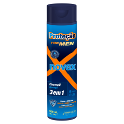 Sampon 3 in 1 Barbati,300 ml, Novex