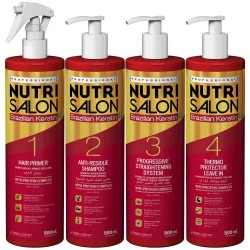 Kit profesional Nutrisalon Keratina Braziliana in 4 pasi